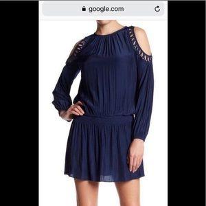 Ramy Brooke Black cold shoulder  dress size small